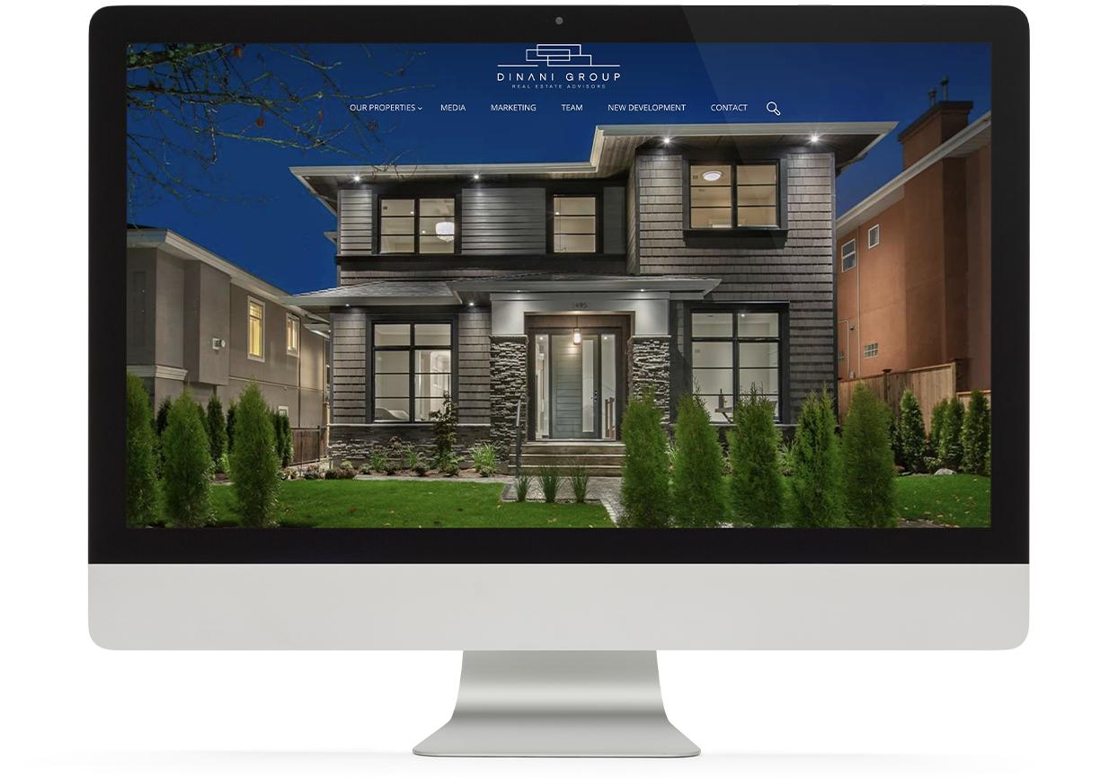 Adil's website desktop view